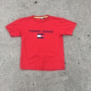 Red Tommy Jeans Flag T-Shirt